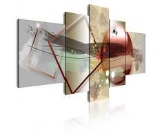 Dekoarte 291 - Cuadro moderno en lienzo de 5 piezas, estilo abstracto en tonos ocres, 180x85cm