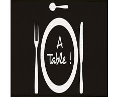 Tapis Déco - 1740305, Tapete Rectangulo, 57 X 115 Cm, A Table, Estampado