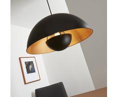 Lámpara colgante Briloner Leuchten 4380-115 LED, estilo retro, E27, metal, 60 W, color negro/oro/mate, 42 x 42 x 130 cm