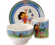 United Labels 0114103 - Dora-Desayuno Set con Taza, Plato y Cuenco de cerámica