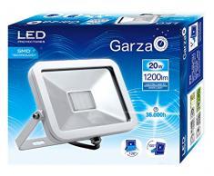 Garza Foco LED Exterior E27, 20W, 4.000 K. Foco Proyector ISPOT Iluminación jardín