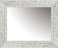 Lienzos Levante Espejo Decorativo baño/recibidor, Madera, Blanco y Plata, 116 x 76 cm