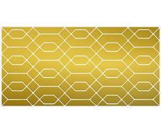 VINILIKO, Alfombra de vinilo, Dorado, 50x100 cm