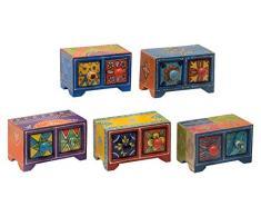 Amadeo Novell GE-102 Set de joyeros y cajones, Madera, 10x10x15 cm