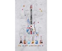 Vilber Kids Guitars Alfombra, Vinilo, Multicolor, 153x200x0.2cm
