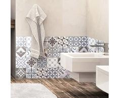 24 pegatinas para azulejos | Mosaico para azulejos de pared de baño y cocina | Portugués – 10 x 10 cm – 24 unidades