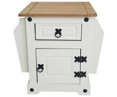 Mercers Furniture - Revistero modelo Corona, madera, Cream/Antique Wax, 53x38x52 cm