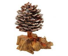 oppacher Advent 3000091 – 6000 Incienso Árbol con Glitter y del paquete de regalo Navidad decoración, madera/Piñas/ramas/Frutas, encerado natural), aprox. 10 x 10 x 15 cm