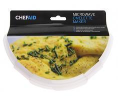 Chef Aid eléctrica para tortilla de huevos para microondas, color blanco