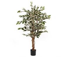 MICA Decorations Ficus Hawaii Planta Artificial En Maceta Campana, poliéster, Verde,, 70 x 70 x 110 cm