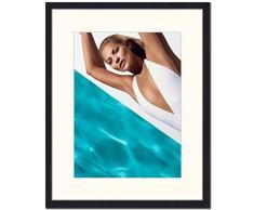 Jacob Baden Kate Moss en la piscina Impresión enmarcada, multicolor, 56,5 x 56,5 x 6 cm