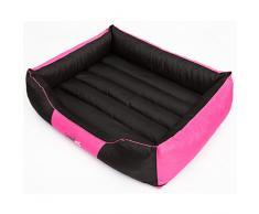 Hobbydog XL CORROZ17 Dog Bed Comfort XL - Cama elástica (85 x 65 cm, 3,2 kg), Color Rosa