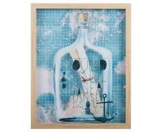 Creaciones Meng Cuadro de Canvas Doble Impreso con Marco, Madera, Multicolor, 40x3x50 cm