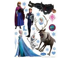 AG Diseño DKS 1082Disney Frozen, la Reina de Hielo, Pegatinas de Pared, 30x 30cm–1Notebook, Papel, Colorful, 30x 30cm