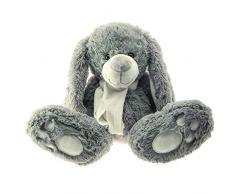Enesco Peluches 770917 - Conejo con bufanda, color gris