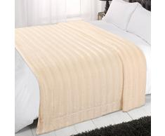 Dreamscene-Manta Suave para sofá o Cama (Piel sintética, Doble, 150x 200cm), Color Crema