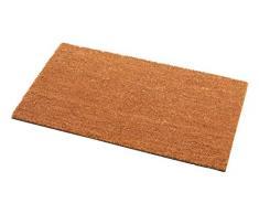 Addis Helmsley Felpudo (muy absorbente 100% Fibra de coco con parte trasera de PVC – 70 x 40 cm – Natural, fibra de coco natural