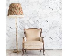 WALPLUS WT2023 - Adhesivos Decorativos para Pared (20 x 20 cm, 12 Unidades), diseño de Azulejos de mármol, 20 x 20 x 0,02 cm