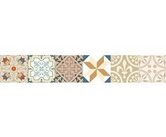 Set de 12 Azulejos Decorativos en Vinilo Adhesivo 10x10 cm Beige