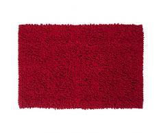 Sealskin Alfombra de Baño Antideslizante Absorbente Twist, 60 x 90 x 3 cm, Poliéster, Rojo