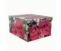 COMPACK Baúl multiusos, cartón, multicolor, 50 x 40 x 25 cm