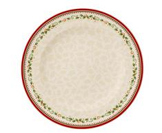 Villeroy & Boch 14-8612-2622 Plato Llano Winter Bakery Delight, Motivo Estrella fugaz, para Navidad, 27 cm, Porcelana, Multicolor, 29.2x29.2x8.5 cm