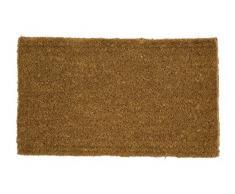 William Armes Dandy Kersey Tejido a mano fibra de coco Felpudo con yute, Natural, XL