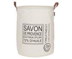 Sealskin Cesta para Ropa Savon De Provence, 40 x 40 x 50 cm, Algodón y Poliéster, Crudo