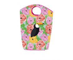 Vigar Toucan - Bolsa colada, acrílico, 51 x 20 x 34 cm, multicolor