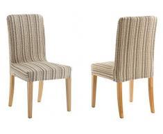 Pack de 2 Fundas para silla con respaldo modelo MEJICO, color BEIGE.