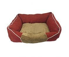 Just Contempo mascota cama cojín, rojo