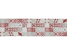 VINILIKO, Alfombra de vinilo, Antique, Rojo, 66x250 cm