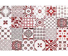 VINILIKO, Alfombra de vinilo, Lisboa, Rojo, 66x100 cm