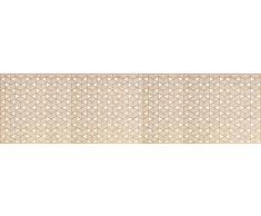 VINILIKO, Alfombra de vinilo, Laberinto, Marrón y Blanco, 80x300 cm