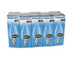 Philips 30600005 E, la bombilla forma de pera, vidrio, claro, E14 60 wattsW