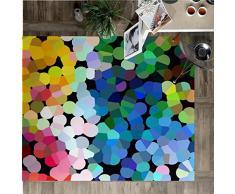 Vilber New Look Dots Alfombra, Vinilo, Multicolor, 75x120x0.2cm