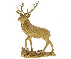 Border Fine Arts Studio Figura Decorativa de Ciervo de Oro, Resina,, 80Â x 250Â x 310Â cm