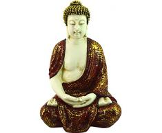 REVIMPORT 19/3189 - Escultura Decorativa, Resina, diseño de Buda siddhârta 27,5 x 23 x 42 cm