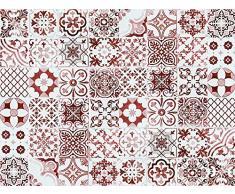 VINILIKO, Alfombra de vinilo, Port Grimaud, Rojo, 100x133 cm