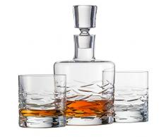 Schott Zwiesel 120147Basic Bar Surfing Whisky Compuesto por 1–Juego de Jarra y 2Double Old Fashioned Vasos Whisky Set, Cristal, incoloro, 22.5x 13.0x 23.0cm