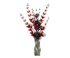 Flourish 724641 E13 - Florero con flor artificial de color rojo y negro, color rojo/negro, 80 cm, grande