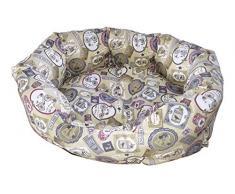 Croci Oval Mascota Cama sello, 80 x 66 x 19 cm
