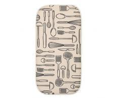 InterDesign iDry - Tapete absorbente para secado de vajilla; para mesada de cocina - 47,52 cm x 22,86 cm, Mini - Trigo/marfil