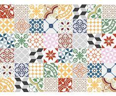 Viniliko Alfombra, Vinilo, Multicolor, 100x133x0,26 cm