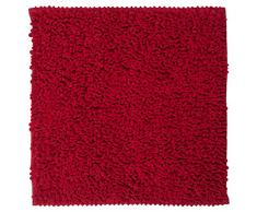 Sealskin Alfombra de Baño Antideslizante Absorbente Twist, 60 x 60 x 3 cm, Poliéster, Rojo
