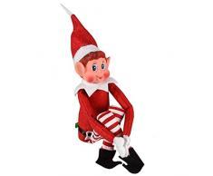 Guaranteed4Less Árbol de Navidad con decoración para el hogar, Rojo, Paquete de 1