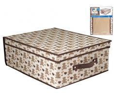 Home Caja Armario, Tela, Multicolor/Crudo, 50 x 40 x 20 cm