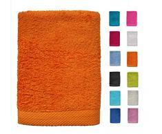 Dhestia Juego De Toallas De Baño Y Ducha Algodón 100% 500 Gr/M2, Surtido De Colores Y Medidas Grandes, (Naranja, 70X140 Cm (Pack 2 Uds, 70 X 140 Cm