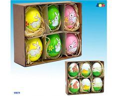Givi ginmar giocaci 4.gi90879Â Pack de 6Â unidades de huevos pintados para Pascua, multicolor