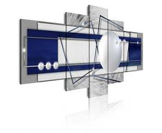 Dekoarte 262 - Cuadro moderno en lienzo de 5 piezas, abstracto con texturas, 180x85cm